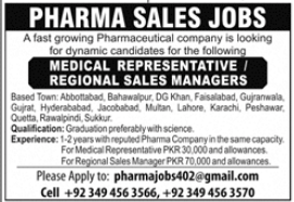 Medical Representative & Regional Sales Managers Jobs 2021