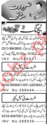 Teacher & Subject Teacher Jobs 2021 in Peshawar