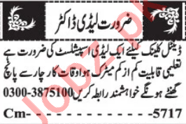 Lady Doctor & Medical Officer Officer Jobs 2021 in Quetta