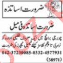 Female Teacher & Coordinator Jobs 2021 in Lahore