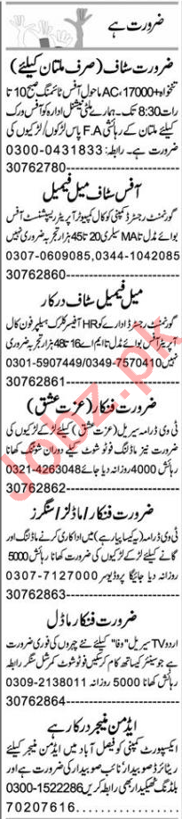 Customer Relationship Officer & Office Assistant Jobs 2021