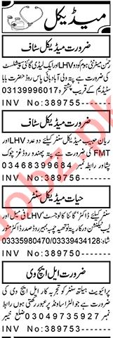 Lady Gynae Specialist & LHV Jobs 2021 in Peshawar