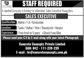 Concrete Concepts Private Limited Jobs 2021