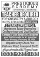 Prestigious Academy Jobs 2021 For Teaching Staff