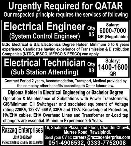 Engineering Staff Jobs 2021 in Qatar