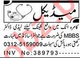Aaj Sunday Classified Ads 21st Feb 2021 for Medical Staff