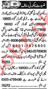 Khabrain Sunday Classified Ads 21st Feb 2021 Security Staff