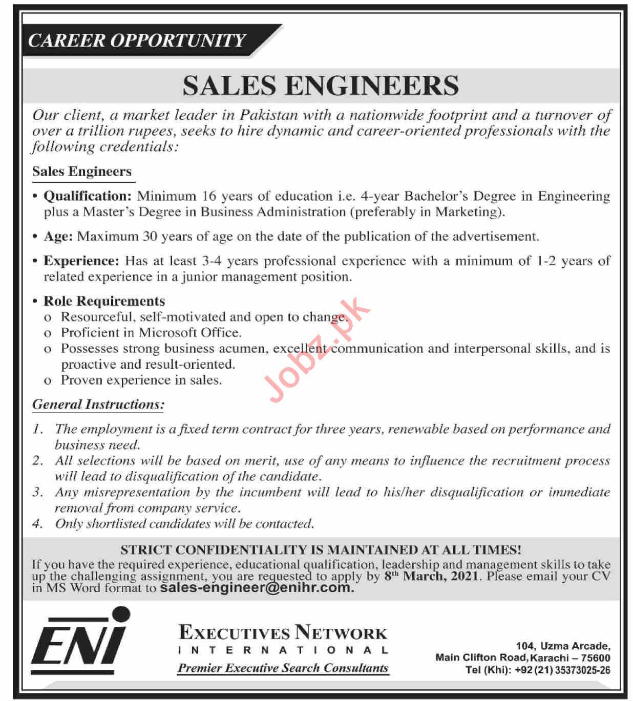 Sales Engineers Jobs 2021 Executives Network International