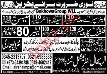 Air Spray Painter & Finishing Carpenter Jobs 2021 in Bahrain