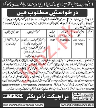 Livestock & Dairy Development Department Swat Jobs 2021