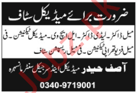 Asif Haider Medical & Surgical Center Mansehra Jobs 2021