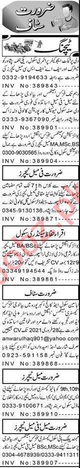 Section Head & Principal Jobs 2021 in Peshawar