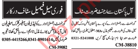 Admin Officer & Data Entry Operator Jobs 2021 in Islamabad