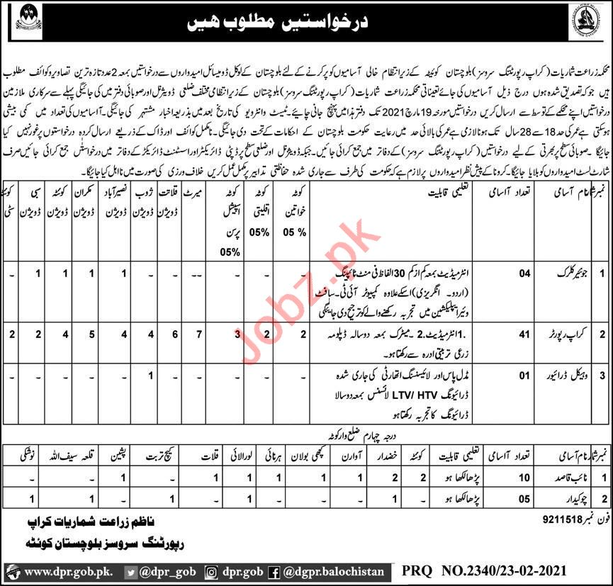 Crop Reporting Services Agricultural Statistics Jobs 2021