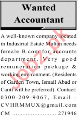 General Manager Finance & Accounts Officer Jobs 2021