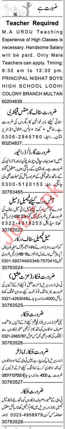 Web Developer & Auto CAD Operator Jobs 2021 in Multan