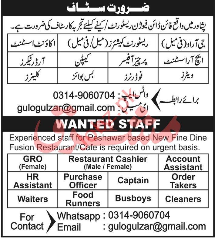 HR Assistant & Account Assistant Jobs 2021 in Peshawar