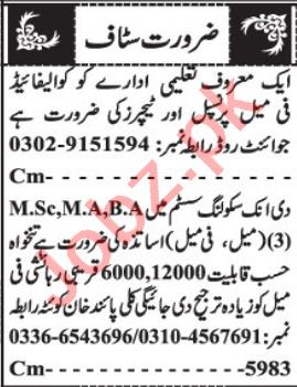 Female Accountant & Teacher Jobs 2021 in Quetta