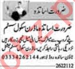 Male & Female Teachers Jobs 2021 in Lahore