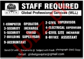Electrical Supervisor & Civil Site Incharge Jobs 2021