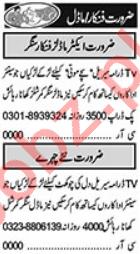 Actor & Singer Jobs 2021 in Lahore