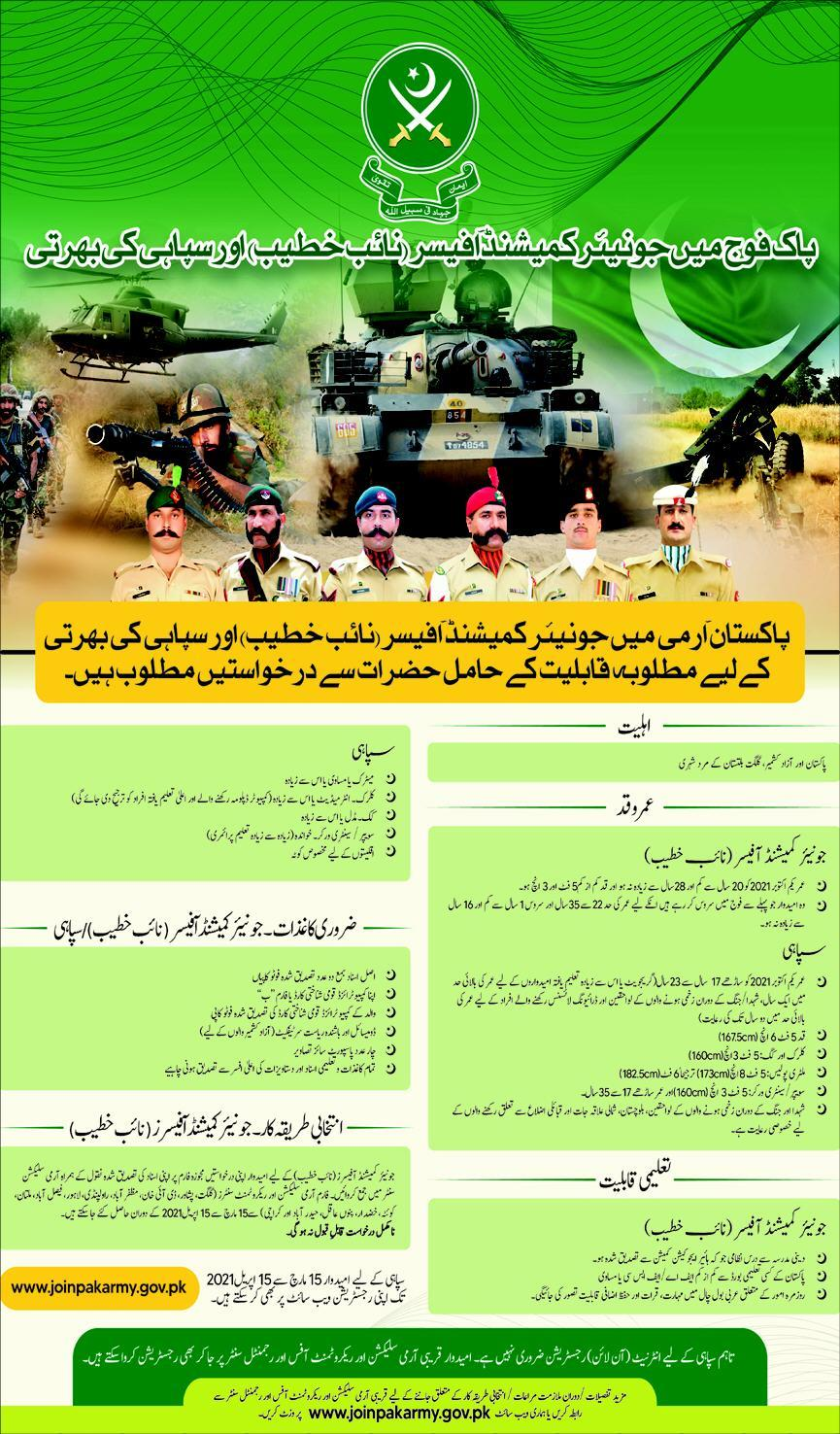 Join Pakistan Army As A Junior Commissioned Officers