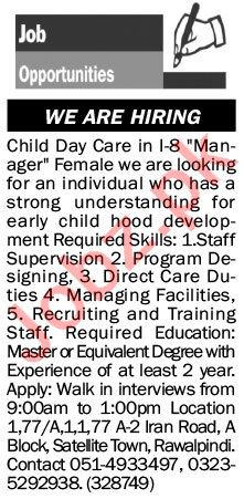 The News Sunday Classified Ads 28 Feb 2021 for Child Daycare