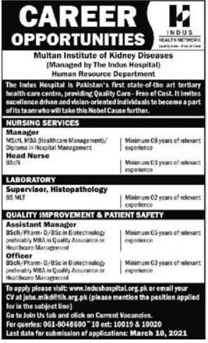 Indus Health Network IHN Jobs 2021