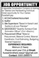 Construction Company Jobs 2021 For Karachi