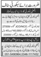 AQSA Security Guards Private Limited Rawalpindi Jobs