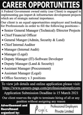 People Professional Employers Management Staff Jobs 2021