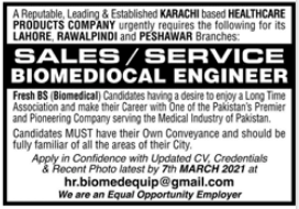 Engineering Staff Jobs in Healthcare Product Company