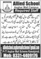 Allied School Rawalpindi Jobs 2021