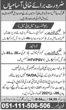 Gulberg Islamabad Jobs 2021