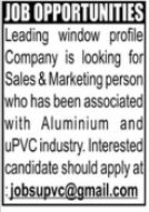 Sales & Marketing Person Jobs 2021 in Rawalpindi