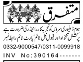 Rider Jobs in Private Company