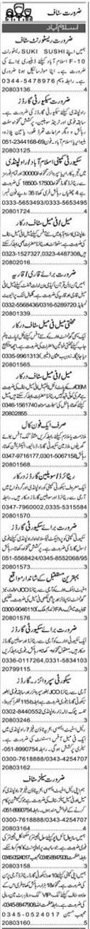 Daily Express Management Jobs 2021 in Islamabad