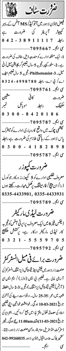 Daily Jang Management Jobs 2021 in Islamabad