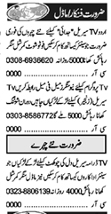 Daily Khabrain Acting & Modeling Staff Jobs 2021