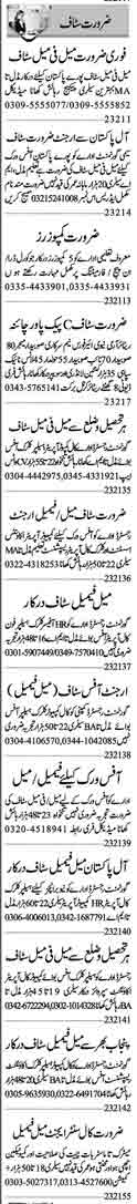 Daily Dunya Management Jobs 2021 for Lahore