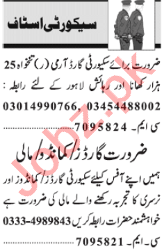 Security Executive & Security Guard Jobs 2021 in Lahore