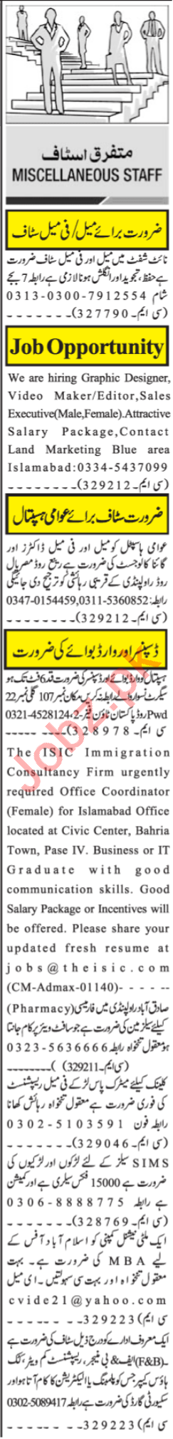 Graphic Designer & Video Editor Jobs 2021 in Islamabad