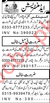 Lady Accounts Officer & Order Booker Jobs 2021 in Peshawar