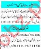Female Teacher & Nursery Teacher Jobs 2021 in Peshawar