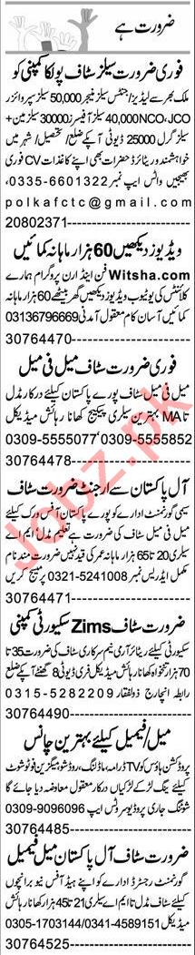 Data Entry Operator & Admin Manager Jobs 2021 in Peshawar