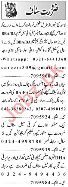 Import Manager & Accounts Officer Jobs 2021 in Lahore
