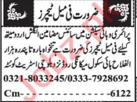 Female Teacher & Montessori Teacher Jobs 2021 in Quetta