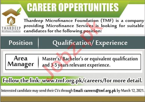 Thardeep Microfinance Foundation TMF Jobs 2021 for Managers