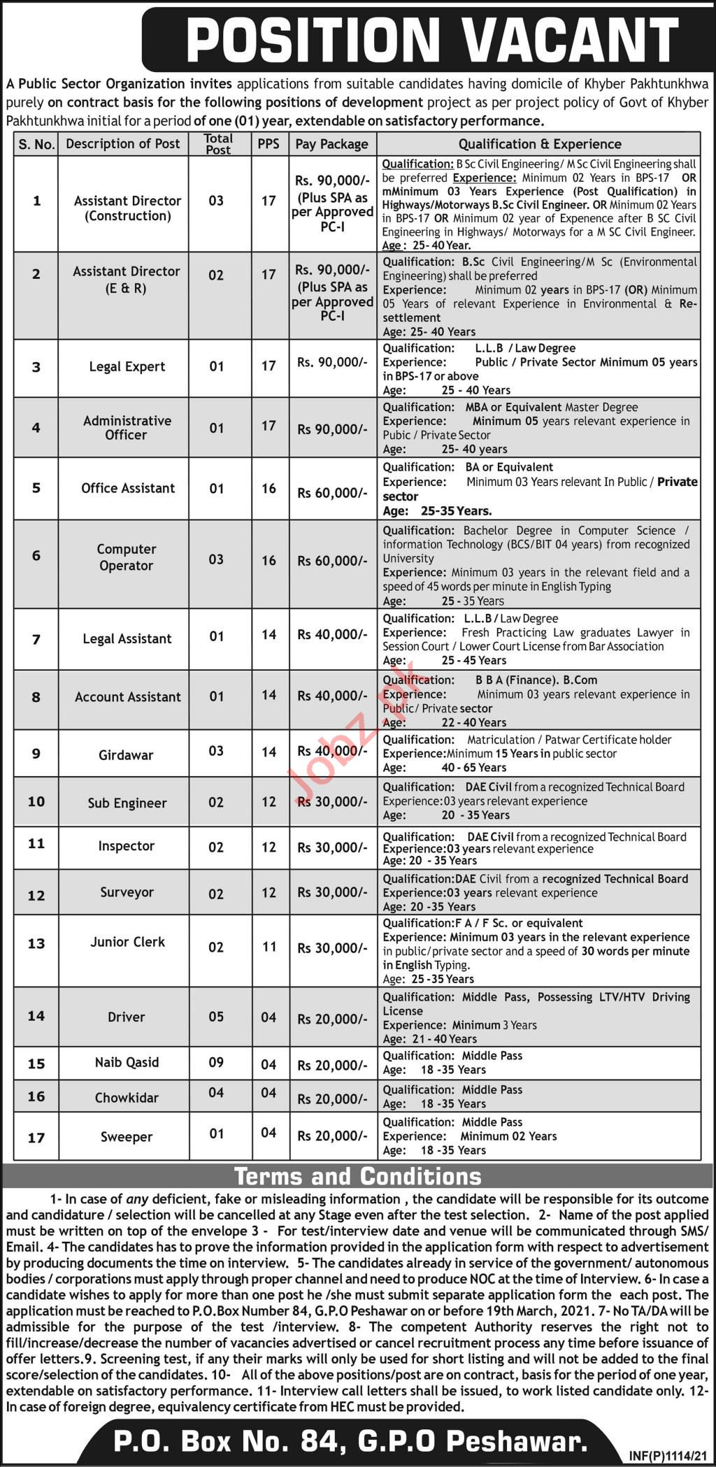 Assistant Director Jobs 2021 in Public Sector Organization