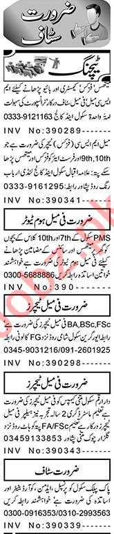Section Head & Teacher Jobs 2021 in Peshawar